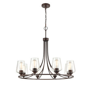Ashford Rubbed Bronze Eight-Light Chandelier
