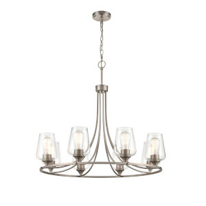 Ashford Satin Nickel Eight-Light Chandelier
