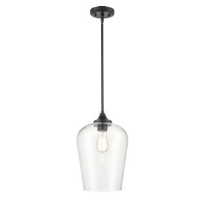 Ashford Matte Black One-Light Pendant