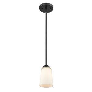 Matte Black Six-Inch One-Light Mini Pendant
