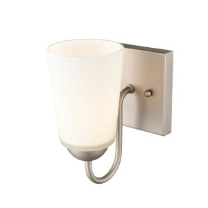 Satin Nickel Five-Inch One-Light Wall Sconce