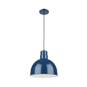 R Series Navy Blue 12-Inch One-Light Pendant