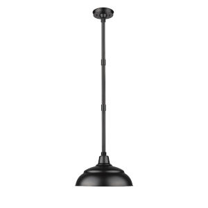 R Series Black 14-Inch One-Light Outdoor Pendant