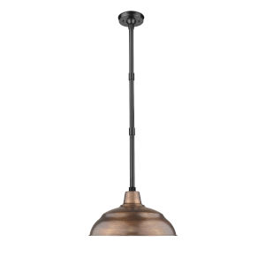 R Series Copper 17-Inch One-Light Outdoor Pendant