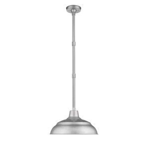 R Series Galvanized 17-Inch One-Light Outdoor Pendant