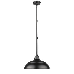 R Series Satin Black 17-Inch One-Light Outdoor Pendant
