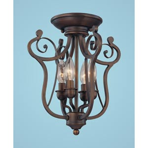 Chateau Rubbed Bronze Four-Light Semi-Flush
