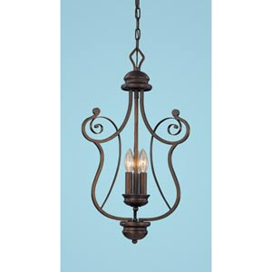 Chateau Rubbed Bronze Three-Light Pendant