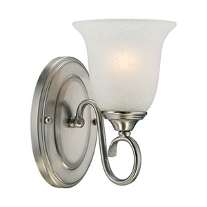 Satin Nickel One-Light Bath Fixture
