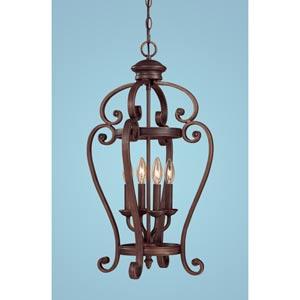 Oxford Rubbed Bronze Four-Light Pendant