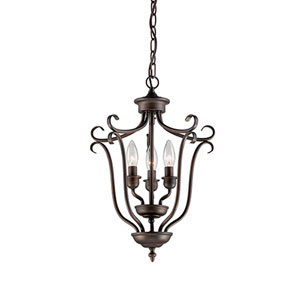 Fulton Rubbed Bronze Three-Light Pendant