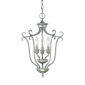 Fulton Rubbed Silver Three-Light Pendant