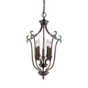 Fulton Rubbed Bronze Five-Light Pendant
