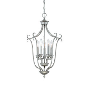 Fulton Rubbed Silver Five-Light Pendant