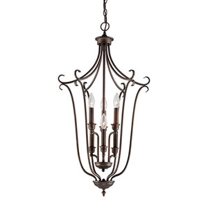 Fulton Rubbed Bronze Six-Light Pendant
