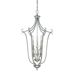 Fulton Rubbed Silver Six-Light Pendant