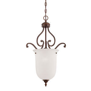 Courtney Lakes Rubbed Bronze One Light Pendant with Turinian Scavo Glass