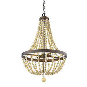 Victoria Rubbed Bronze Four-Light Chandelier