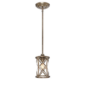 Lakewood Vintage Gold 6-Inch One-Light Mini Pendant