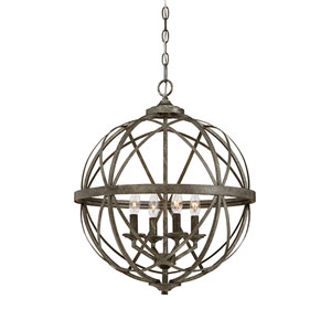 Lakewood Antique Silver 20-Inch Four-Light Pendant
