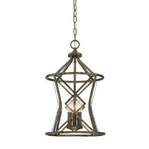 Lakewood Antique Silver Three-Light Pendant