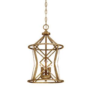 Lakewood Vintage Gold Three-Light Pendant