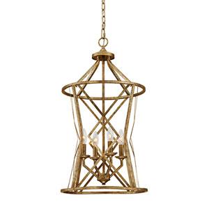 Lakewood Vintage Gold Four-Light Pendant