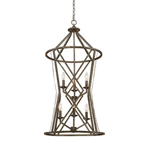 Lakewood Antique Silver Six-Light Pendant