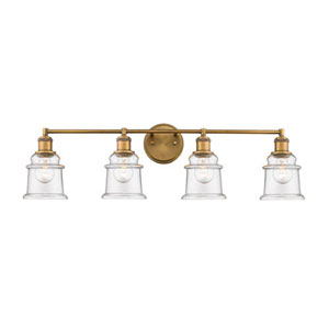 Heirloom Bronze Four-Light Vanity with Clear Glass