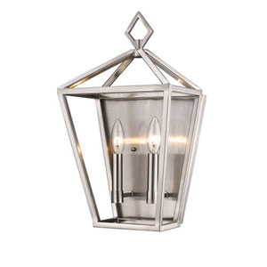 2572-BN Corona Brushed Nickel Two-Light Wall Sconce