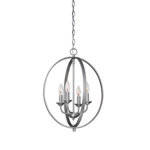Brushed Pewter Four-Light Pendant