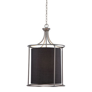 Jackson Brushed Pewter 20-Inch Three-Light Pendant with Charcoal Shade