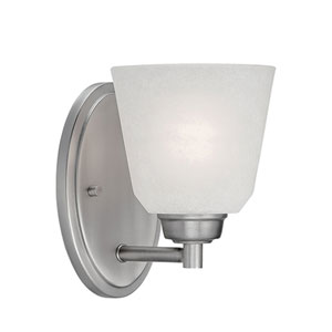 Franklin Brushed Pewter 7.5-Inch One-Light Wall Sconce with Light India Scavo Glass