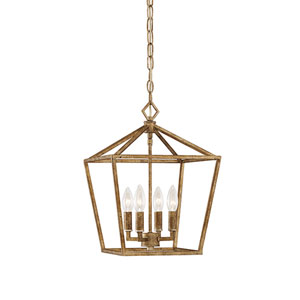 Vintage Gold 12-Inch Four-Light Pendant