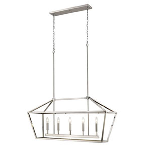 3245-SN Corona Satin Nickel Five-Light Lantern Pendant