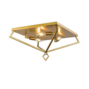 3256-HBZ Corona Heirloom Bronze Three-Light Flush Mount