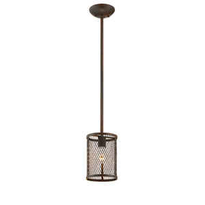 Akron Rubbed Bronze One-Light Mini Pendant