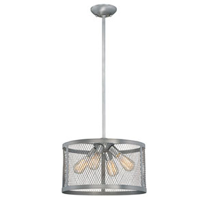 Akron Brushed Pewter 16-Inch Four-Light Pendant