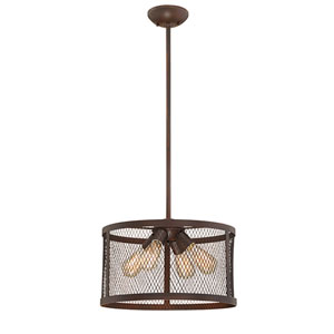 Akron Rubbed Bronze 16-Inch Four-Light Pendant