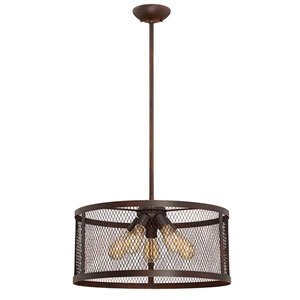 Akron Rubbed Bronze Five-Light Pendant