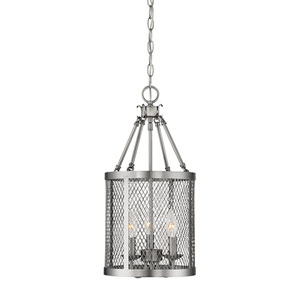 Akron Brushed Pewter Three-Light Pendant