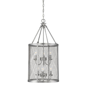Akron Brushed Pewter Six-Light Pendant