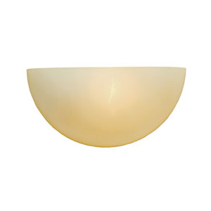 Khaki One-Light Sconce with Florentine Scavo Glass