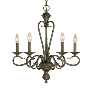Devonshire Burnished Gold Five-Light Chandelier