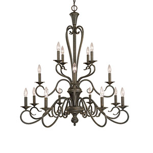 Devonshire Burnished Gold Sixteen-Light Chandelier