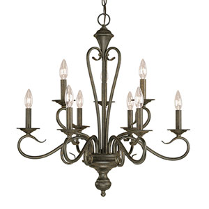 Devonshire Burnished Gold Nine-Light Chandelier