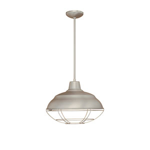 Neo-Industrial Satin Nickel One-Light Pendant