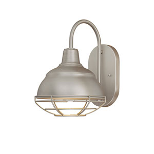 Neo-Industrial Satin Nickel One-Light Sconce