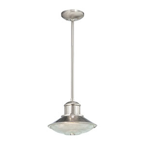Neo-Industrial Brushed Nickel One-Light Mini Pendant