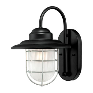 R Series Satin Black One-Light Outdoor Wall Bracket